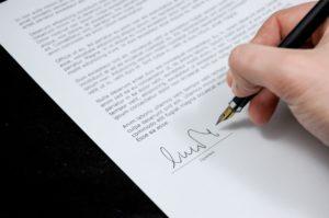 Brev med underskrift